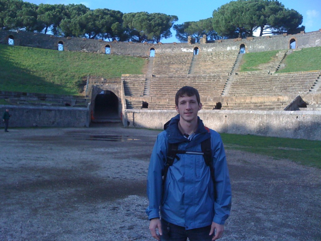 Yours truly: a spectacle at Pompeii!