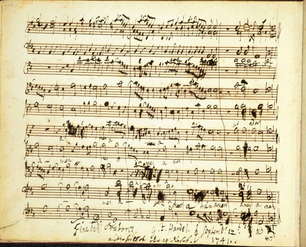 Handel's Messiah: autograph composition draft, Amen Chorus