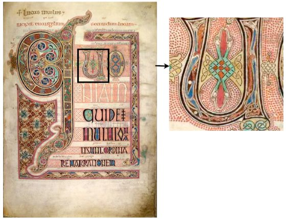 The incipit page of the Gospel of Luke, Lindisfarne Gospels.